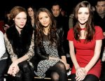 Coco Rocha, Nina Dobrev and Ashley Greene DKNY