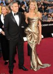 George Clooney with his girlfriend Stacy Keibler in Marchesa