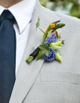 Boutonnieres-purple rustic