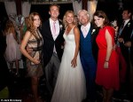 Newlyweds with Sir Richard and Princesses Eugenie and Beatrice