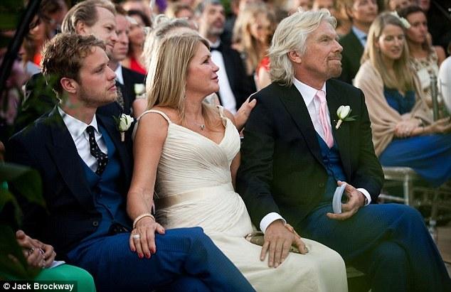 sir richard branson comparte las fotos de la boda de holly