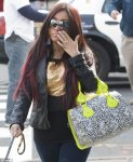 Snooki walking her dog
