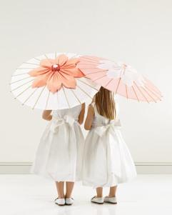 Spring flower girl parasols