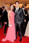 Emily Blunt in Calvin Klein and John Krasinski
