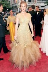 Leighton Meester in Marchesa, Harry Winston and Tabitha Simmons