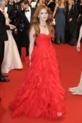 Isla Fisher in Oscar de la Renta