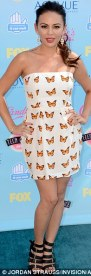 Janel Parrish in Naven and Vivienne Westwood