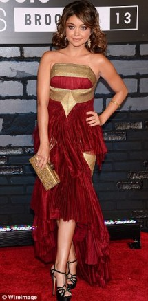 Sarah Hyland in Marchesa