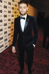 GQ Douglas Booth in Burberry