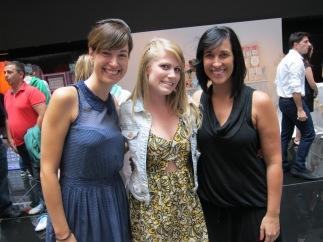 Con Sara y Marieta