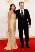 Matt Damon in Giorgio Armani and Luciana in Naeem Khan
