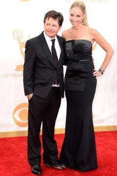 Michael J. Fox y su mujer