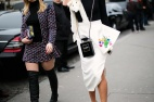 Olympia Le-Tan clutch, Chanel bag and Christian Dior skirt