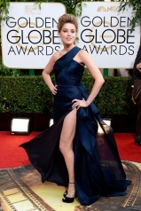 Amber Heard wore an Atelier Versace gown with Jimmy Choo heels