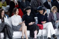 Anna Mouglalis, Olga, Stella Tennant, Ines de la Fressange and Vogue US editor Anna Wintour at Chanel