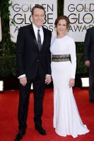 Bryan Cranston in a Burberry tuxedo with wife Robin Dearden