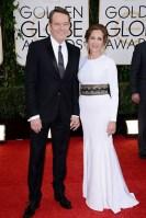 Bryan Cranston in a Burberry tuxedo with wife Robin Dearden