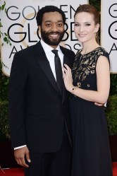 Chiwetel Ejiofor and Sari Mercer, who wore a Mulberry gown