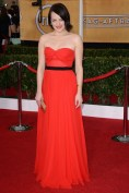Elisabeth Moss wore a Michael Kors strapless gown