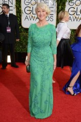 Helen Mirren wore a bespoke Jenny Packham gown with Bulgari jewellery and carried a clutch by Roger Vivier
