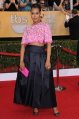 Kerry Washington wore a custom-made top and skirt by Prada with Christian Louboutin heels and Harry Winston jewels