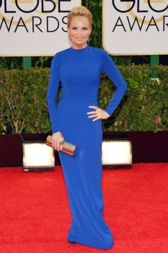 Kristin Chenoweth wore an Aiisha Ramadan dress and carried a Jimmy Choo clutch
