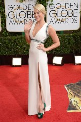 Margot Robbie wore a Gucci gown with Christian Louboutin heels