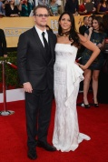Matt Damon in Dolce & Gabbana and Luciana in Pamella Roland and Jimmy Choo