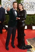 Matthew McConaughey and Camila Alves in Dolce & Gabbana