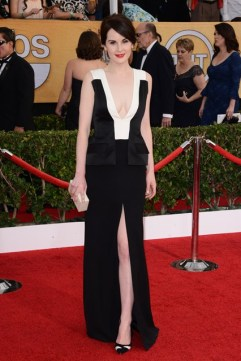 Michelle Dockery wore a J. Mendel gown with Gianvito Rossi heels