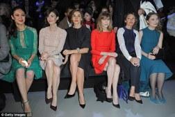 Sofia Essaidi, Gaia Weiss, Kim Kardashian, Bianca Suarez, Paz Vega and Rafael Amargo at Stephane Rolland