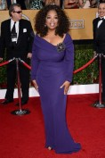 Oprah Winfrey wore a Badgley Mischka dress and Lorraine Schwartz jewellery