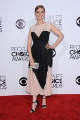 Emily Deschanel in Max Azria