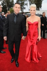 Pink in Johanna Johnson with husband Carey Hart