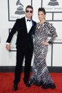 Robin Thicke in Giorgio Armani and Paula Patton in Nicolas Jebran