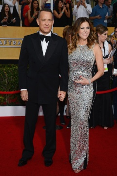 Tom Hanks in Tom Ford with his wife Rita Wilson