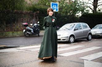 Ulyana Sergeenko in her own design