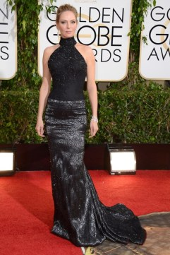Uma Thurman wore an Atelier Versace gown with jewellery by Chopard