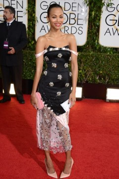 Zoe Saldana in Prabal Gurung, Bottega Veneta and Lorraine Schwarz