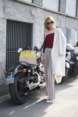 Amanda Bergmann in Malene Birger with a Furla bag
