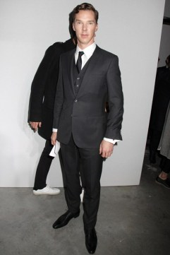 Benedict Cumberbatch at Hugo Boss