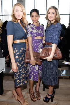 Blake Lively, Freida Pinto and Rose Byrne at Michael Kors