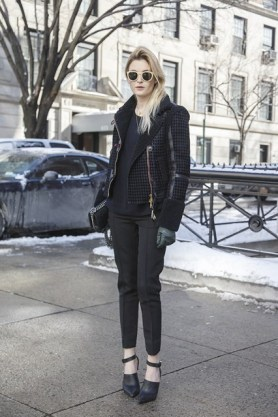 Camille Charriere in Tommy Hilfiger with a Chanel bag