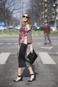 Candela Novembre in Antonio Marras with a Marni bag and Zara shoes