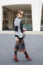 Chriselle Lim in Givenchy with Lanvin boots