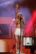 Ellie Goulding - wearing a bespoke Dirty Pretty Things bra