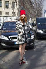 Julia Prudko in Zara with Louboutins