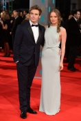 Laura Haddock in Burberry Prorsum with Sam Claflin