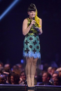 Lily Allen in House of Holland