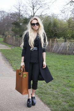 Sandra Hagelstam in Zara with a Maison Martin blazer and Stella McCartney shoes